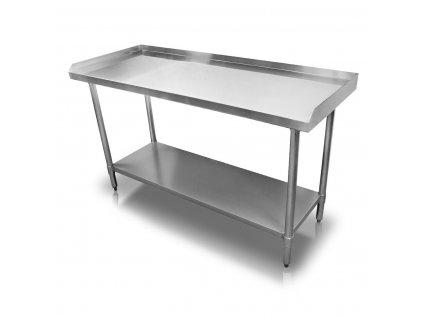 Stůl nerezový s hranou 180x60x86 cm (BEZ SLEVY 5%)