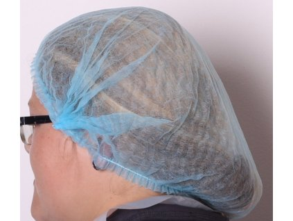 Čepice netkaná textílie - modrá - 20ks