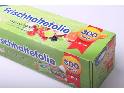 Folie na potraviny paropropustná - odtrhávací box - 30cm x 300m/9 mikronů