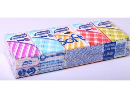 Kapesníčky papírové 3-vrstvé/ 10 x 10ks