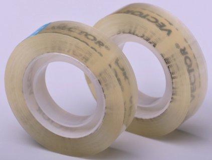Páska lepící transparentní - 2ks/12mm x 30m