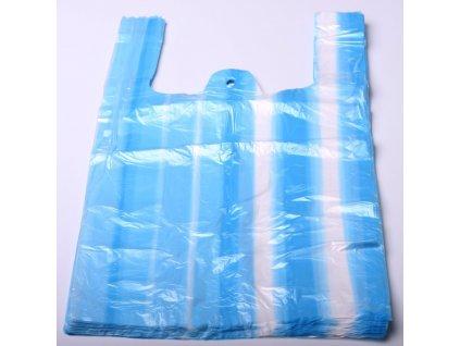 Tašky mikroten - pruhy modro-bílé - 4kg/100ks/7 mikronů