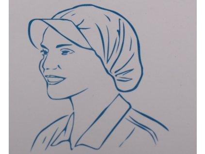 Čepice s kšiltem - netkaná textilie, bílá - 20ks