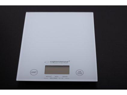 Váha digitální sklo bílá - do 5kg