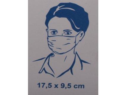 Rouška ochranná - papír 3 vrstvy - 10ks