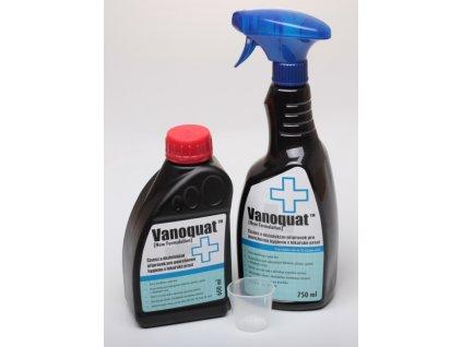 Čistící a dezinfekční přípravek Vanoquat - koncentrát 600ml + dávkovač spray na 750ml