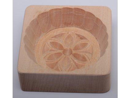Forma na máslo - květ - kolečko, 9,5x9,5x3cm