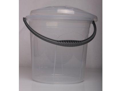 Vědro gastro 15l + víko - transparentní