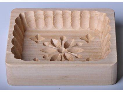 Forma na máslo - květ - hranatá, 13x11x3cm