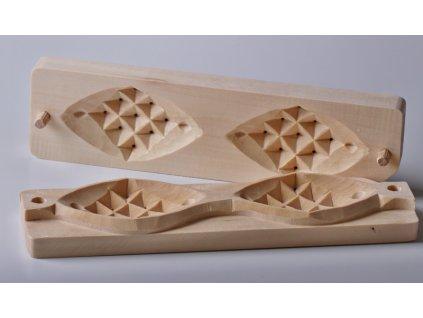 Forma na pařený sýr - typ Oštěpek - malá dvojitá - 24,5x6,5cm, vzor 2