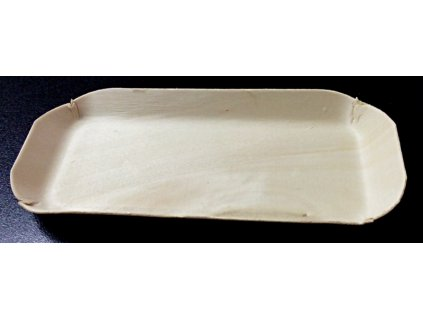 Krabička/tácek topol 15x6cm, výška 1,5cm - 10ks