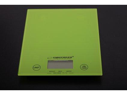 Váha digitální sklo zelená - do 5kg