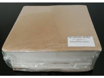 Papír přírodní voskovaný archy 25x25cm, 42g/m2, 5kg/1750listů