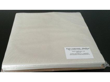 Papír přírodní voskovaný archy 25x25cm, 42g/m2, 1kg/350listů