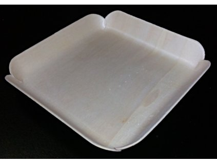 Krabička/tácek topol 10,7x10,5cm, výška 1,8cm - 100ks