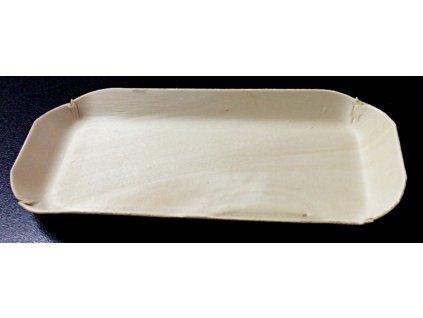 Krabička/tácek topol 15x6cm, výška 1,5cm - 100ks