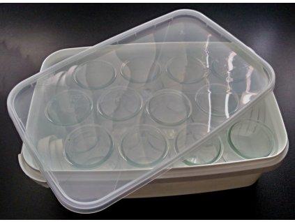 Box 3,4l + 12ks skleniček na jogurty 120ml