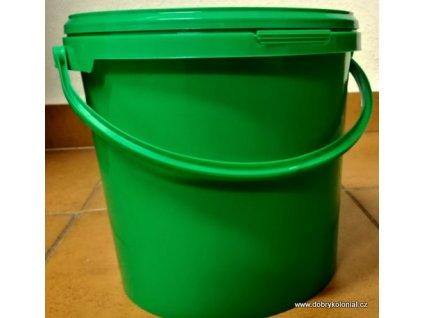 Kbelík kulatý s víkem a uchem - 6,2l zelený
