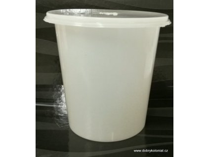 Kelímek mléčně-bílý s víčkem - 750ml