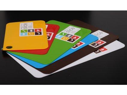 Deska na krájení tenká - různé barvy - 24,5 x 16cm