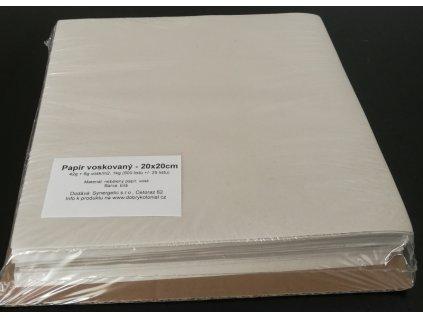 Papír bílý voskovaný - archy 20x20cm, 35g/m2, 1kg/500listů