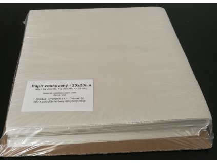 Papír bílý voskovaný - archy 25x25cm, 35g/m2, 1kg/350listů