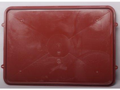 Víko pro přepravku - červená  55x40x17cm