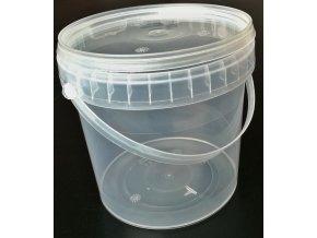 Kelímek / kbelík s víčkem a uchem - 1,1l trasparentní