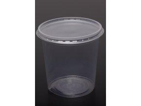 Kelímek s víčkem - 500 ml, transparent - balení 10ks