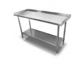 Stůl nerezový s hranou 150x60x86 cm (BEZ SLEVY 5%)