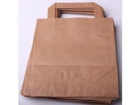 Tašky papírové - hnědé EKO, 18x22cm/ 10ks