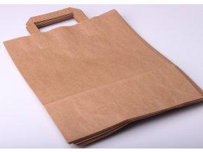 Tašky papírové - hnědé EKO, 26x33cm/ 10ks