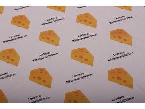 Papír s mikrotenem - vzor SÝRY - 1kg/120archů 38x50cm, 35g/m2