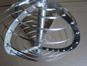 Harfa sýrařská kulatá/ Metla - nerez, průměr 40cm