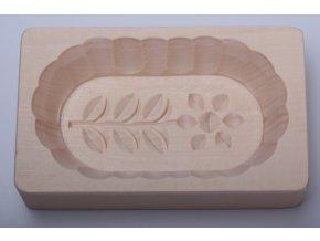 Forma na máslo - kytička ovál, 7x14x3cm