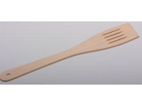 Lopatka dřevěná s otvory, plochá - lípa