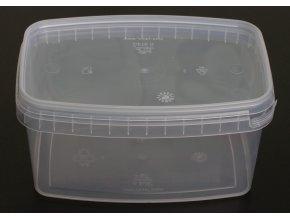 Kelímek s víčkem obdélník - 1,14l, transparent