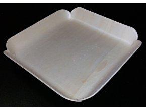 Krabička/tácek topol 10,7x10,5cm, výška 1,8cm - 10ks