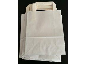 Tašky papírové - bílé EKO, 18x22cm/ 10ks