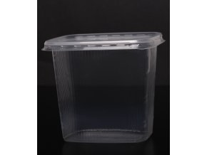 Kelímek s víčkem obdélník - 500 ml, transparent - balení 10ks