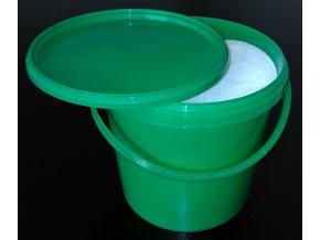 Sůl mořská - jemná - 7kg v zásobním kbelíku - zelený 6,2l