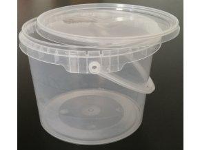 Kbelík kulatý s víkem - 2,3l transparentní