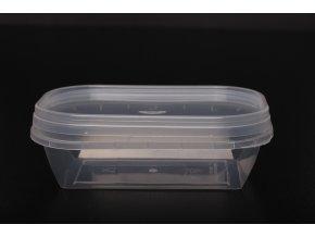 Kelímek s víčkem obdélník - 150ml, transparent