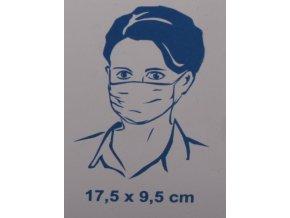 Rouška ochranná - netkaná textilie/ 3 vrstvy - 5ks