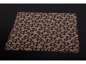 Papír voskovaný RUSTIC vzor Ptáci - 1kg/150archů 37x37cm, 42g/m2