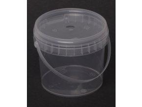 Kelímek s víčkem - 365ml, ucho, transparent