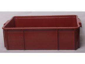 Přepravka červená  55x40x17cm