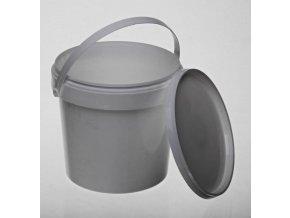 Kelímek / kbelík s víčkem - 1,1l, ucho, bílá