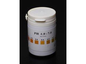 pH indikátorové papírky 4 - 7pH / 200ks