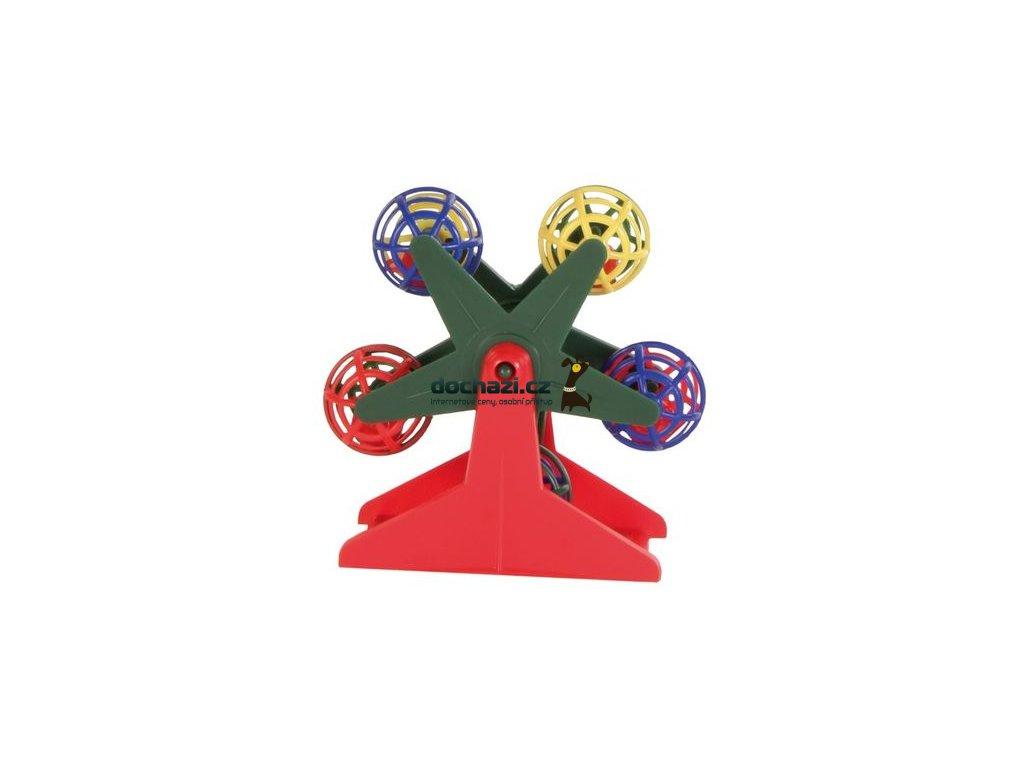 Hračka (trixie) ptáci Ruské kolo na podstavci 10cm
